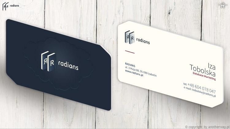 Radians - wizytówka (rewers iawers)