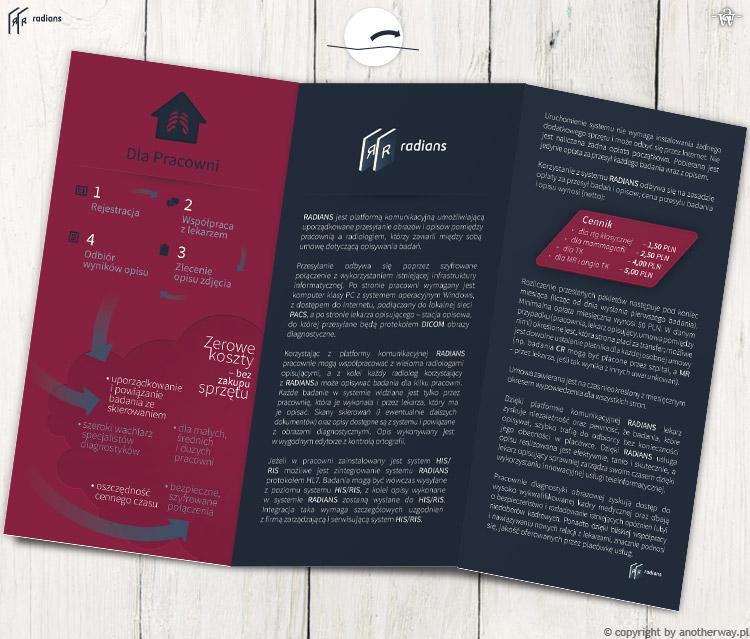 Radians - Materiały reklamowe – ulotka składana A4 doDL